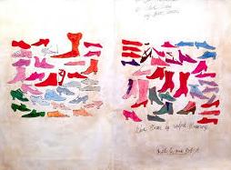 Dezesseis litografias emolduradas extraídas de alguns desenhos de Andy  Warhol, criados em 1955, quando o artista trabalhava como estilista da  indústria ... 5487673147